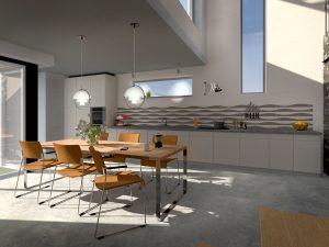 Interieur keuken gezien richting aanrecht