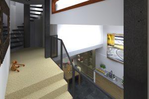 hal slaapverdieping richting keuken